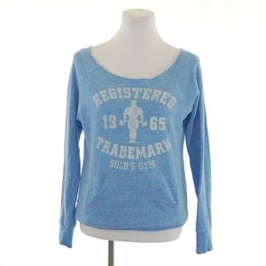 Gold's Gym Off-the-shoulder Vintage Style Sweater